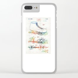 Ice Skate Patent - Sharon Cummings Clear iPhone Case