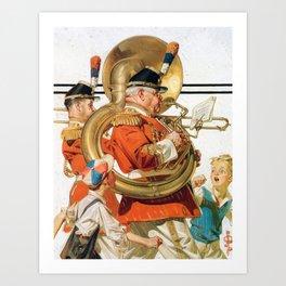 Joseph Christian Leyendecker - Brass Band - Digital Remastered Edition Art Print