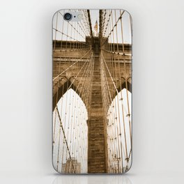 brooklyn bridge dreaming iPhone Skin