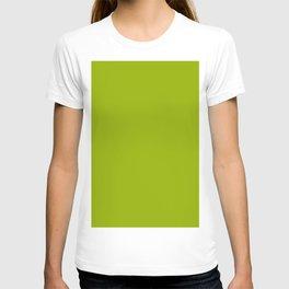 Yellow Green Flat Color T-shirt