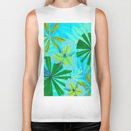 My blue abstract Aloha Tropical Jungle Garden Biker Tank