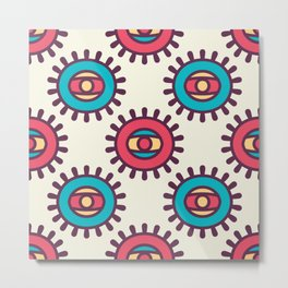 Eye In A Circle Boho Pattern Metal Print