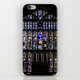 Stained Glass Window Shakespeare's Church Stratford upon Avon England iPhone Skin
