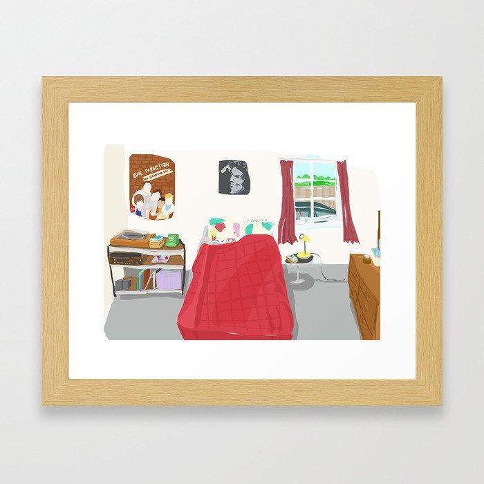 My Sister's Bedroom Framed Art Print