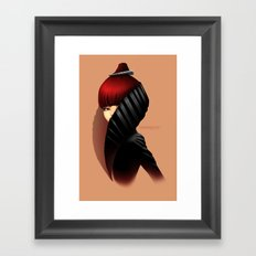 Fashion profile Framed Art Print