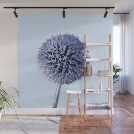 Monochrome - Starry night on the thistle globe Wall Mural