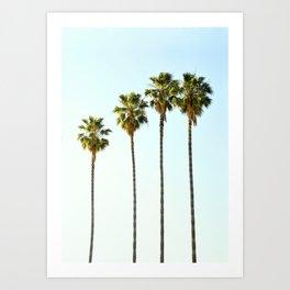 Four Palm Trees Art Print