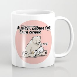 Little Hunterman – Always Caring for Each Other /pink circle Coffee Mug