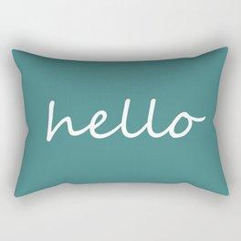 Hello Jade Green Rectangular Pillow