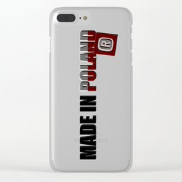 Made in Poland, patriotic shirts, country proud tee shirt design v.2 shadowed Clear iPhone Case