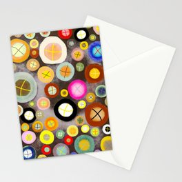 The incident - Circles pale vintage cross Stationery Cards