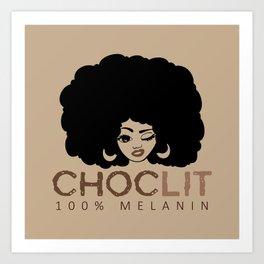 Choclit Black Woman Afro Art Print