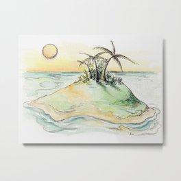 My secret Island Getaway Metal Print