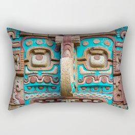 Mayan Rain God Rectangular Pillow