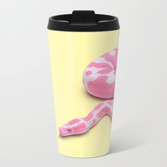 YELLOW SNAKE Metal Travel Mug