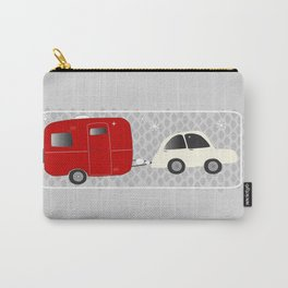 vintage trailer in red Carry-All Pouch