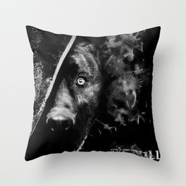 The dog (B&W) Throw Pillow