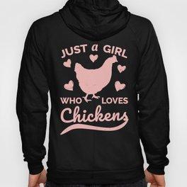 Chicken Design for Women Girls, Chicken Farmers Hoody