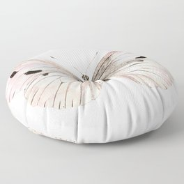 Butterfly flutter - soft peach Floor Pillow