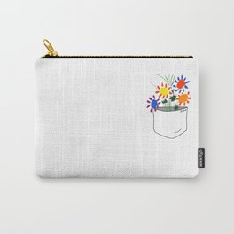 Pablo Picasso Bouquet Of Peace 1958 in a Pocket (Flowers Bouquet With Hands), T Shirt, Artwork Carry-All Pouch