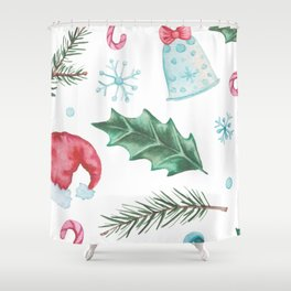 Seasonal Patterns Shower Curtain