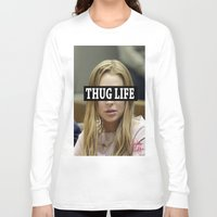 """lindsay lohan Long Sleeve T-shirts featuring Lindsay Lohan """"Thug Life"""" **Signed** by ActuallyHappy"""