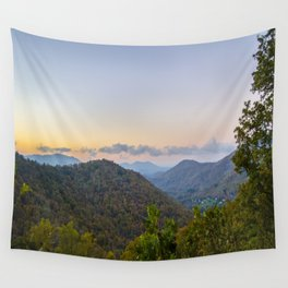 Sleepy valley town Wall Tapestry