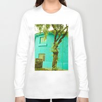colombia Long Sleeve T-shirts featuring COLOMBIA BOGOTA TYPICAL HOUSE by Alejandra Triana Muñoz (Alejandra Sweet