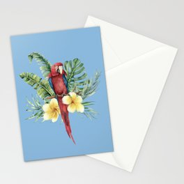 Tropical Red Parrot Stationery Cards
