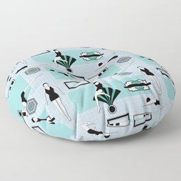 Art Deco Swimmers Floor Pillow