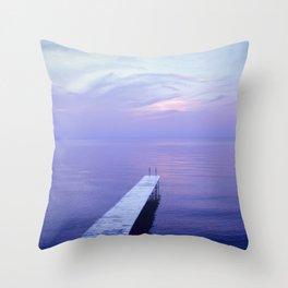 Long Dock Coastal Potography Throw Pillow