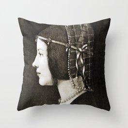Bianca Sforza by Leonardo da Vinci Throw Pillow