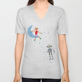 Music in Space Unisex V-Neck