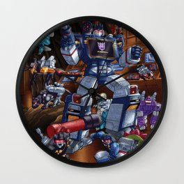 Cries and screams are music to my ears Wall Clock