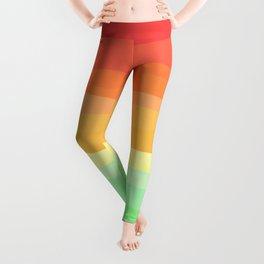 Rainbow - Cherry Red, Orange, Light Green Leggings