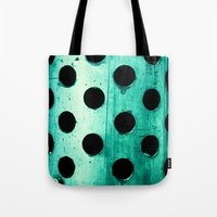 polka dots Tote Bags featuring Polka dots by Elisabeth Fredriksson