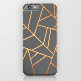 Copper And Grey iPhone Case