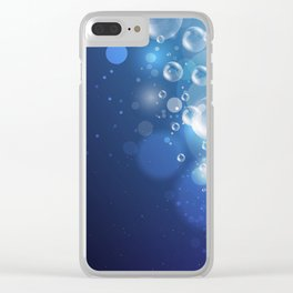 Illustraiton of underwater background with light rays Clear iPhone Case