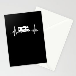 Heartbeat Motorhome Camping Outdoor Stationery Cards