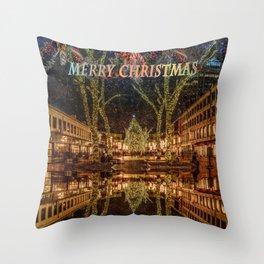 Merry Christmas, Boston Throw Pillow