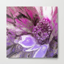 In Sunlight, Petunia Reflections Metal Print