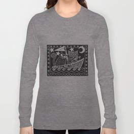 The Owl And The Pussycat (black background) Long Sleeve T-shirt