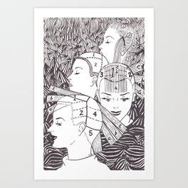 salon neuropsychology Art Print