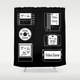 Retro Gaming Shower Curtain