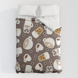 Coffee Lover Pattern Comforters