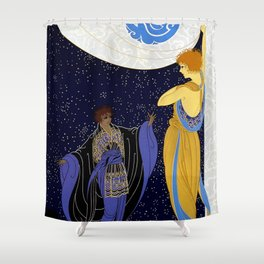 "Art Deco Design ""Night Dream"" Shower Curtain"