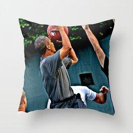 President Barack Obama Takes a Shot Throw Pillow