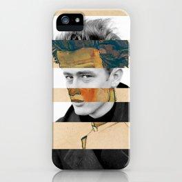 Egon Schiele's Self Portrait in a Striped Shirt & James D. iPhone Case
