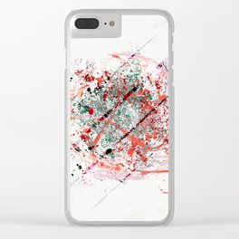 Abstract Art Modern Print Clear iPhone Case