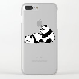 Love Hurts Panda Clear iPhone Case
